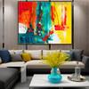 Deep Dapple Abstract Texture Canvas Artwork for Living Room Wall Assortment