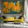 Calico Abstract Texture Handmade Oil Portmanteau for Interior Wall Getup