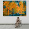 Calico Abstract Texture Handmade Oil Portmanteau for Room Wall Decor