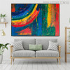 Calico Abstract Texture Acrylic Painting for Home Wall Adornment