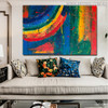 Calico Abstract Texture Acrylic Painting for Living Room Wall Assortment