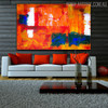 Colorful Abstract Texture Canvas Portrayal for Room Wall Adornment