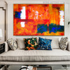 Colorful Abstract Texture Canvas Portrayal for Room Wall Decor