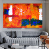 Colorful Abstract Texture Canvas Portrayal for Room Wall Getup
