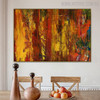 Florid Shade Abstract Texture Oil Painting for Room Wall Outfit