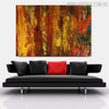 Florid Shade Abstract Texture Oil Painting for Interior Wall Assortment