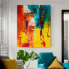 Calico Texture Abstract Handmade Canvas Artwork for Interior Wall Finery