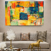 Non Realistic Abstract Texture Handmade Oil Effigy for Room Wall Onlay