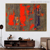 Hued Drop Abstract Texture Canvas Smudge for Interior Wall Garniture