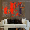 Hued Drop Abstract Texture Canvas Smudge for Living Room Wall Disposition