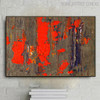 Hued Drop Abstract Texture Canvas Smudge for Wall Decor