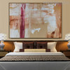 Real Texture Abstract Acrylic Portrayal for Bedroom Wall Decoration