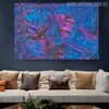 Purplish Abstract Texture Canvas Artwork for Room Wall Getup