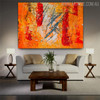 Reddish Abstract Texture Canvas Painting for Lounge Room Wall Equipment