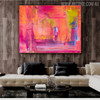 Pinkish Shade Abstract Texture Handmade Canvas Portraiture for Wall Flourish