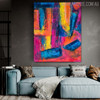 Pinkish Abstract Modern Texture Acrylic Smudge for Room Wall Adornment