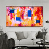 Shot Abstract Modern Texture Handmade Canvas Portrayal for Living Room Wall Adornment