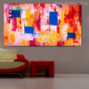 Shot Abstract Modern Texture Handmade Canvas Portrayal for Room Wall Ornament