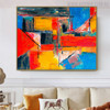 Tone Abstract Modern Texture Oil Painting on Canvas for Room Wall Assortment