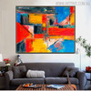 Tone Abstract Modern Texture Oil Painting on Canvas for Interior Wall Decor