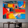 Tone Abstract Modern Texture Oil Painting on Canvas for Dining Room Wall Getup