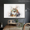 Domestic Cat Animal Modern Handpainted Canvas for Interior Wall Decoration