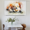Labrador Retriever Animal Modern Oil Scheme on Canvas for Room Wall Equipment