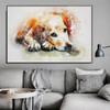 Labrador Retriever Animal Modern Oil Scheme on Canvas for Lounge Room Wall Flourish