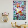 Creative Fox Animal Modern Abstract Handmade Canvas Art for Interior Wall Garnish