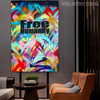 Free Humanity Abstract Acrylic Portraiture for Interior Wall Getup