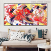 Calico Assortment Abstract Modern Canvas Artwork for Lounge Room Wall Outfit