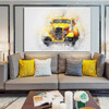Vintage Car Abstract Modern Handpainted Canvas for Interior Wall Onlay