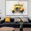 Vintage Car Abstract Modern Handpainted Canvas for Living Room Wall Outfit
