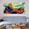 Ample Abstract Modern Texture Acrylic Likeness for Living Room Wall Disposition