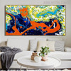 Ample Abstract Modern Texture Acrylic Likeness for Lounge Room Wall Drape