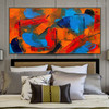 Bushy Abstract Texture Canvas Vignette for Bedroom Wall Tracery