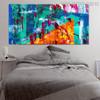 Hued Blend Abstract Modern Texture Handmade Canvas Artwork for Interior Wall Onlay