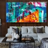 Hued Blend Abstract Modern Texture Handmade Canvas Artwork for Living Room Wall Decor
