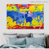 Colorific Intermingle Abstract Texture Acrylic Resemblance for Home Wall Decoration