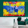Colorific Intermingle Abstract Texture Acrylic Resemblance for Living Room Wall Getup