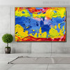 Colorific Intermingle Abstract Texture Acrylic Resemblance for Room Wall Outfit