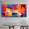 Fuse Abstract Modern Texture Framed Acrylic Draught for Dining Room Wall Finery