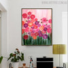 Colorful Roses Floral Handmade Oil Smudge for Wall Disposition