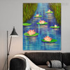 Lotus Floral Modern Handmade Oil Likeness for Room Wall Garnish