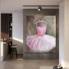 Gown Modern Framed Canvas Effigy for Living Wall Getup