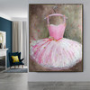 Gown Modern Framed Canvas Effigy for Wall Decor