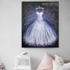 Long Gown Modern Framed Canvas Art for Room Wall Garnish