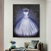Long Gown Modern Framed Canvas Art for Lounge Room Wall Decor
