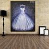 Long Gown Modern Framed Canvas Art for Wall Ornament