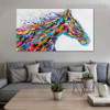 Horse Face Abstract Animal Modern Handmade Canvas Artwork for Lounge Room Wall Outfit